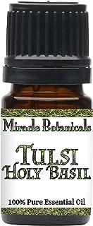 Miracle Botanicals Tulsi Holy Basil Essential Oil - 100% Pure Ocimum Sanctum - Therapeutic Grade (5ml)