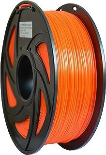 【TRONXY】3Dプリンタ用造形材料 高品質 PETG 正味量【1KG 1.75mm】2.2LBS 寸法精度+/-0.05mm 3D Printer filament(PETG 透明オレンジ)