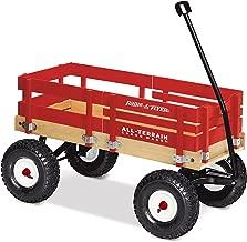 Radio Flyer All-Terrain Cargo Wagon, Red Wood