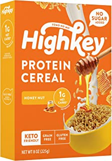 HighKey High Protein Keto Cereal - Low Carb 1g Healthy Snacks - Sugar Free Breakfast - Gluten Free Snack Food - Paleo, Dia...