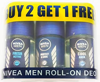 Nivea Men Roll-On Deo 25ml (Buy 2 Get 1)