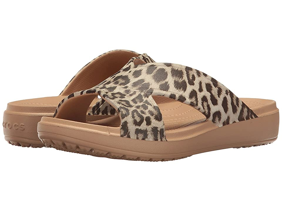 Crocs Sloane Graphic Xstrap (Leopard) Women's Sandals, Animal print