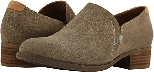 Dusty Gold Star Suede