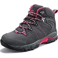 Clorts Women's Hiking Boots Waterproof Suede Leather Lightweight Hiking Shoes Outdoor Backpacking...