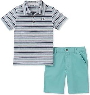 Calvin Klein - Juego de 2 Pantalones Cortos de Polo para niño