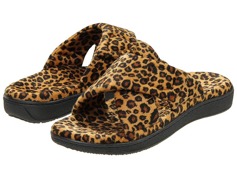 f1557a8b16f1 ... UPC 616542041953 product image for VIONIC with Orthaheel Technology  Relax Slipper (Tan Leopard) Women's