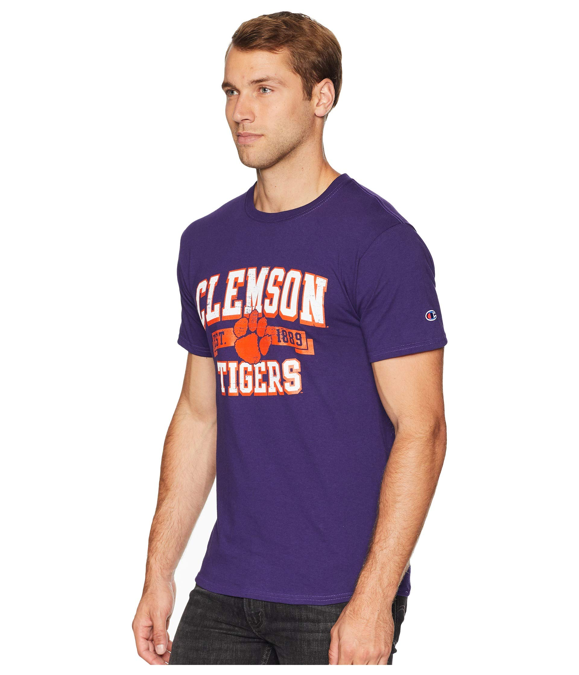 1 Tee Jersey College Clemson Tigers Purple Champion YqAI0c