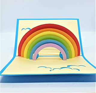 BC Worldwide Ltd carta pop-up 3D fatta a mano, arcobaleno, speranza, grazie, compleanno, anniversario di matrimonio, simpa...