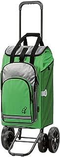 Andersen Carro de compra Quattro con bolsa Hydro verde, volumen 60L, compartimento termico, marco acero con 4 ruedas