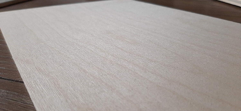 A4 WoodLab 3 x Sperrholzplatten aus Birkenholz 30 x 21 cm 3 mm Basteln /± 0,5 mm rustikales Holz CNC,Laser Gravur zum Dekorieren