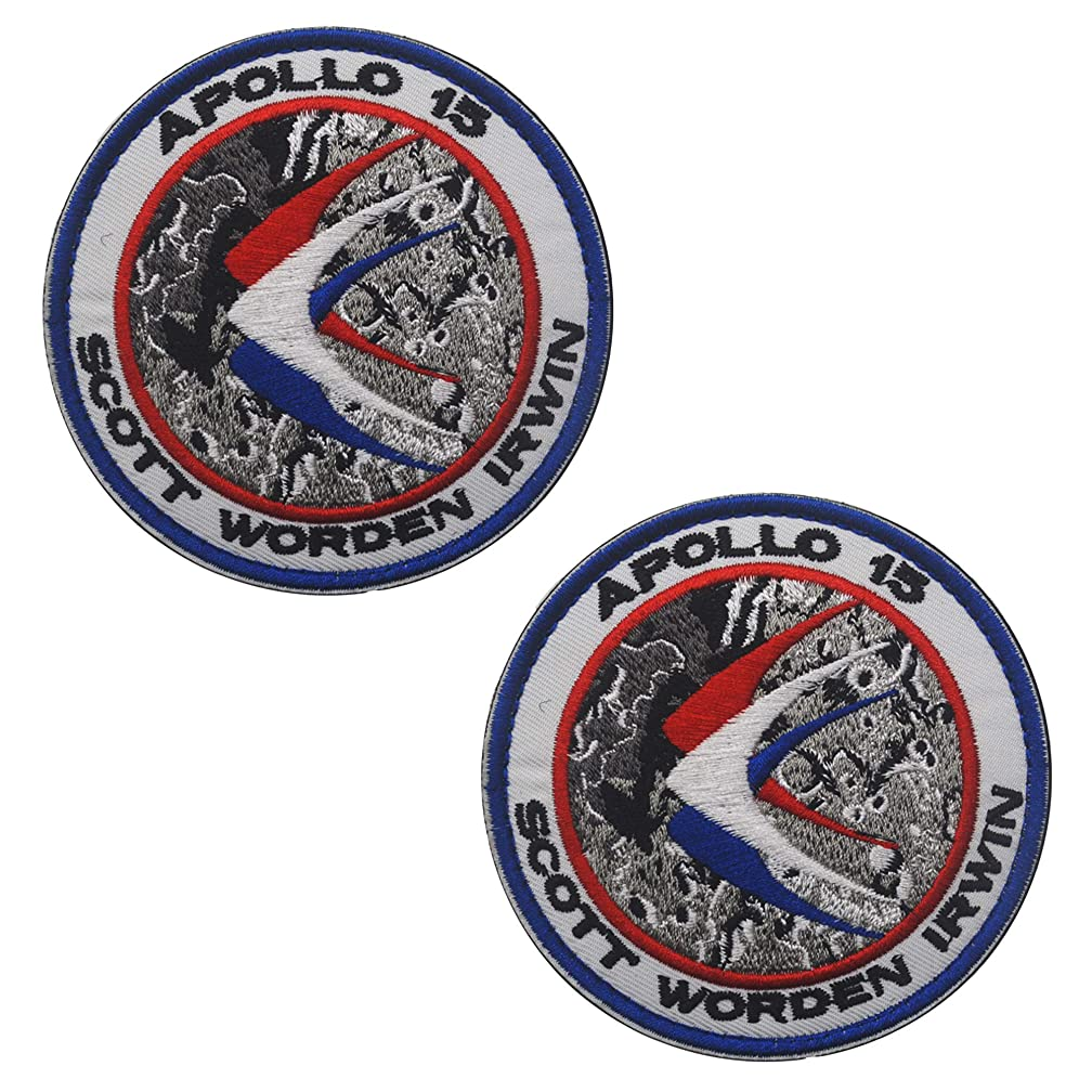 NASA Apollo 15 Space Mission Patch DIY Embroidered Patches Costume Applique Badge Set 3.15 Inch Sized