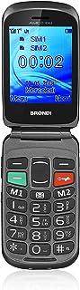 Brondi Amico Fedele, Telefono cellulare GSM per anziani con tasti grandi, tasto SOS e funzione da remoto, dual SIM, volume...