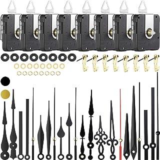 8 Pièces Mouvements d'Horloge à Arbre Long Mécanisme d'Aiguilles d'Horloge Mécanisme à Couple Élevé avec 8 Paires Différen...