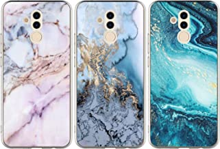 Huawei Mate 20 Lite Case, 3 Pcs Colorful Painting Pattern Kawaii Marble Case Shock Resistant Flexible Soft TPU Case Rubber Bumper Shell Silicone Gel Slim Protective Skin Cover for Huawei Mate 20 Lite