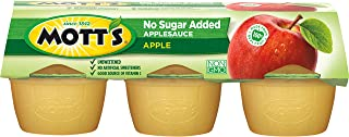 Mott's Unsweetened Applesauce, 3.9 oz cups, 6 count (Pack of 12)