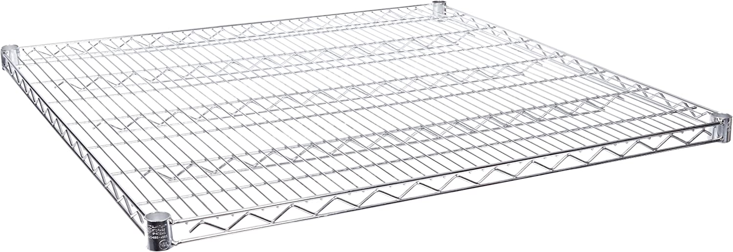 Quantum Storage Systems 3636C-2 Extra Shelf for 36  Deep Wire Shelves, Chrome Finish, 800 lb. Load Capacity, 1  Height x 36  Width x 36  Depth (Pack of 2)