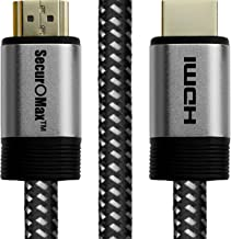 SecurOMax HDMI Cable (4K 60Hz, HDMI 2.0, 18Gbps) with Braided Cord, 10 Feet