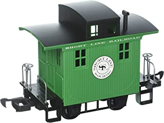 Bachmann Industries Li'L Big Haulers Caboose Short Line G-Scale Railroad with Green/Black Roof, Large