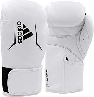 adidas Speed 175 Leather Boxing Gloves - Kickboxing and MMA Speed Training and Light Sparring Gloves