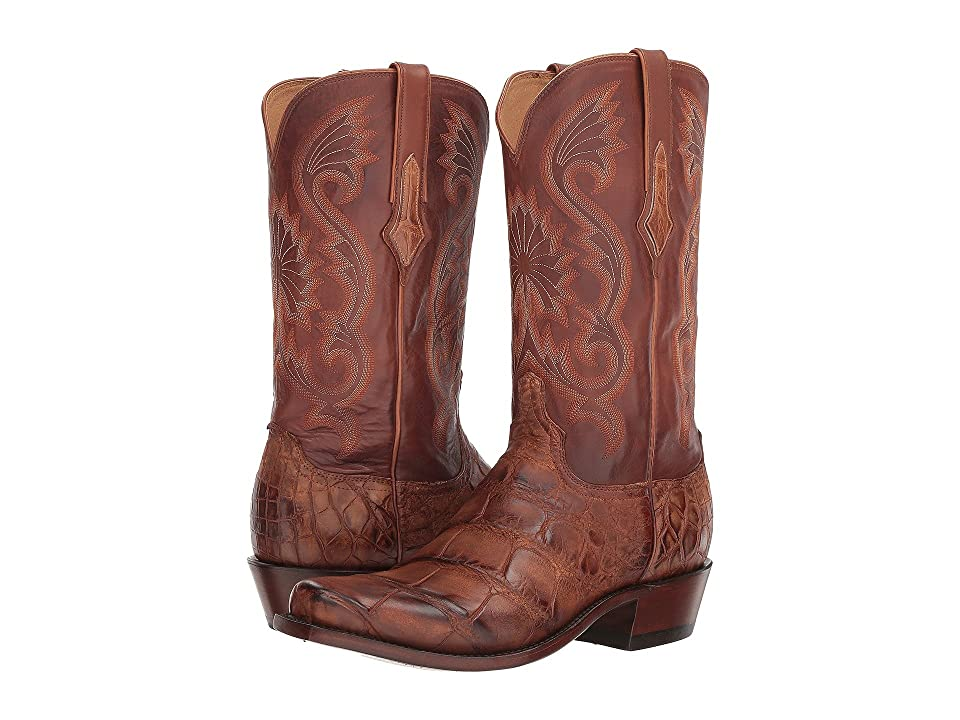 Lucchese Rio (Antique Brown Giant Gator) Cowboy Boots
