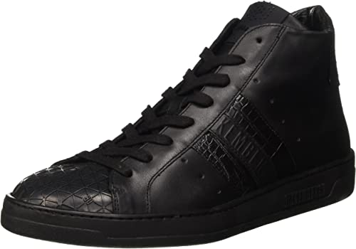 Bikkembergs Bounce 699 Mid chaussures M M M Leather, paniers Hautes Homme 600