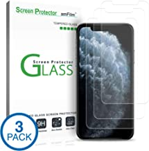 amFilm Glass Screen Protector for iPhone 11 Pro, XS, X (5.8 Inch) (3 Pack) iPhone 11 Pro, 10s, 10 Tempered Glass with Easy Installation Tray