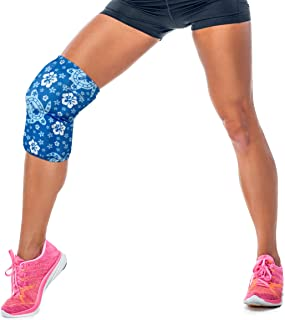 HurtSkurt - 2 in 1 - Harness-Free Fashionable Cold Therapy Compression Gel Sleeve & Ice Pack Stretch-to-Fit Medium (Turtle Bay)
