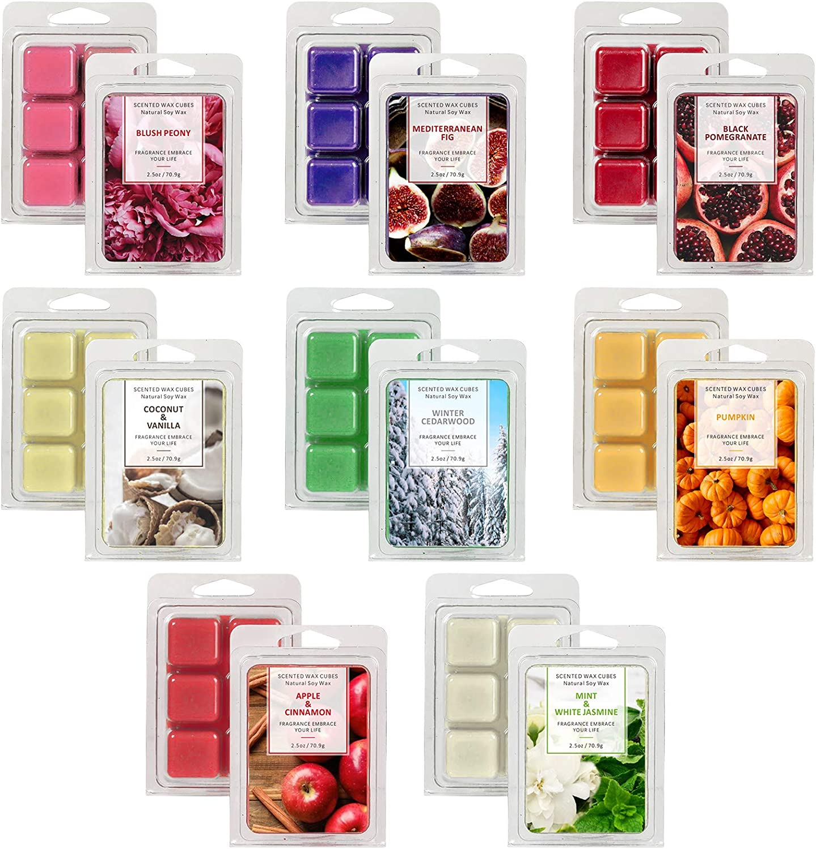 LASENTEUR Scented Wax Melts, Wax Cubes, Wax melt Wax Cubes Gift Set for Women, Natural Soy Wax Cubes of Home Fragrance, Wax Cubes for Candle Wax Warmer, Soy Wax melt, Natural Wax