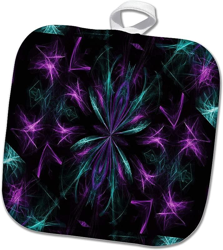 3dRose Dreamscapes By Leslie Design Purple And Teal Dreamscapes Design 4 8x8 Potholder Phl 314284 1