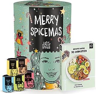 Just Spices Gewürz Adventskalender 2021 I Weihnachtskalender mit 24 Gewürzmischungen  brandneues Kochbuch I Hochwertige Gewürze als Geschenk für Männer und Frauen I insgesamt 4,5 kg