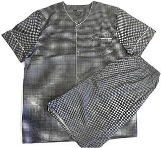 TEN WEST Apparel Mens Cotton Yarn Dyed Short Sleeve Short Leg Printed Pajamas Set