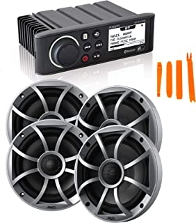 """$659 » Sponsored Ad - Fusion MS-RA70N Marine AM/FM/BT/NEMA2000 Stereo with 2 Pair Wet Sounds RECON6-S High Output 6.5"""" Marine Coa..."""