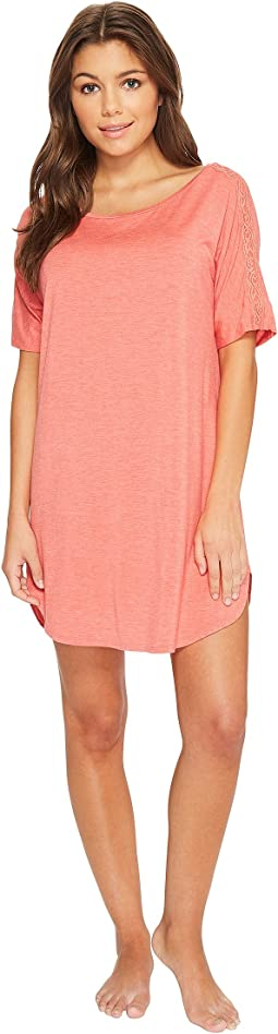 Natori Feathers Essentials Sleepshirt with Lace