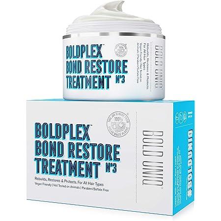 Boldplex No3 Bond Repair - Máscara de Tratamiento de Proteínas del Cabello - Fórmula Acondicionadora Hidratante para el Cabello Rizado, Seco, Teñido, ...