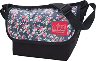 Floral Print Mini Ny Messenger Bag, Black