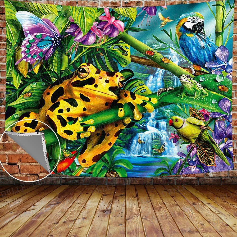 DBLLF Frog Tapestry Rainforest Creature Sales for sale Spring Manufacturer direct delivery Summer Nature Sce