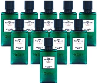 Hermès Eau d'Orange Verte Luxury Shampoo with D-Pantenol Vitamins in Bubble Bag - Set of 10 X 1.35 Ounce/40 ML Bottles, To...