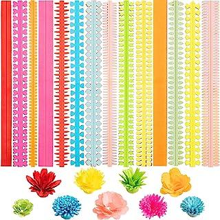 252 Pieces Paper Quilling Flower Quilling Art Strips DIY Flowers Petal Quilling Paper Strips Colorful Paper Quilling Patte...