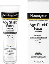 Neutrogena Age Shield لوسیون صورت لوسیون ضد آفتاب ضد سرطان Spectrum SPF 110، 3 Fl. اوز
