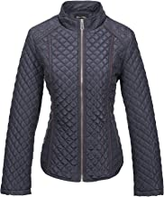 Bellivera Women's Stand Collar Lightweight Gilet Quilted Puffer Jacket,The Padded Zip Coat for Spring Autumn and Winter