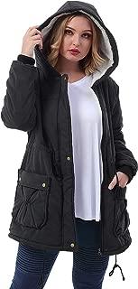 Women's Plus Size Winter Warm Coats Hoodie Parkas Overcoat Faux Fur Lined Outwear Jackets.