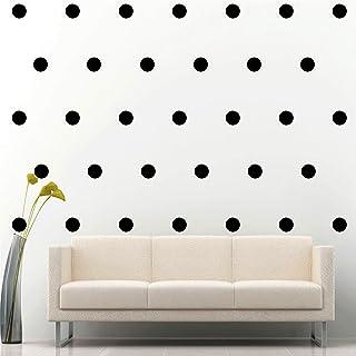 "JCM Custom 200 of 2"" Peel & Stick Polka Dot Circle Removable Wall Vinyl Decal Sticker Nursery Kids Room Decor (Black)"