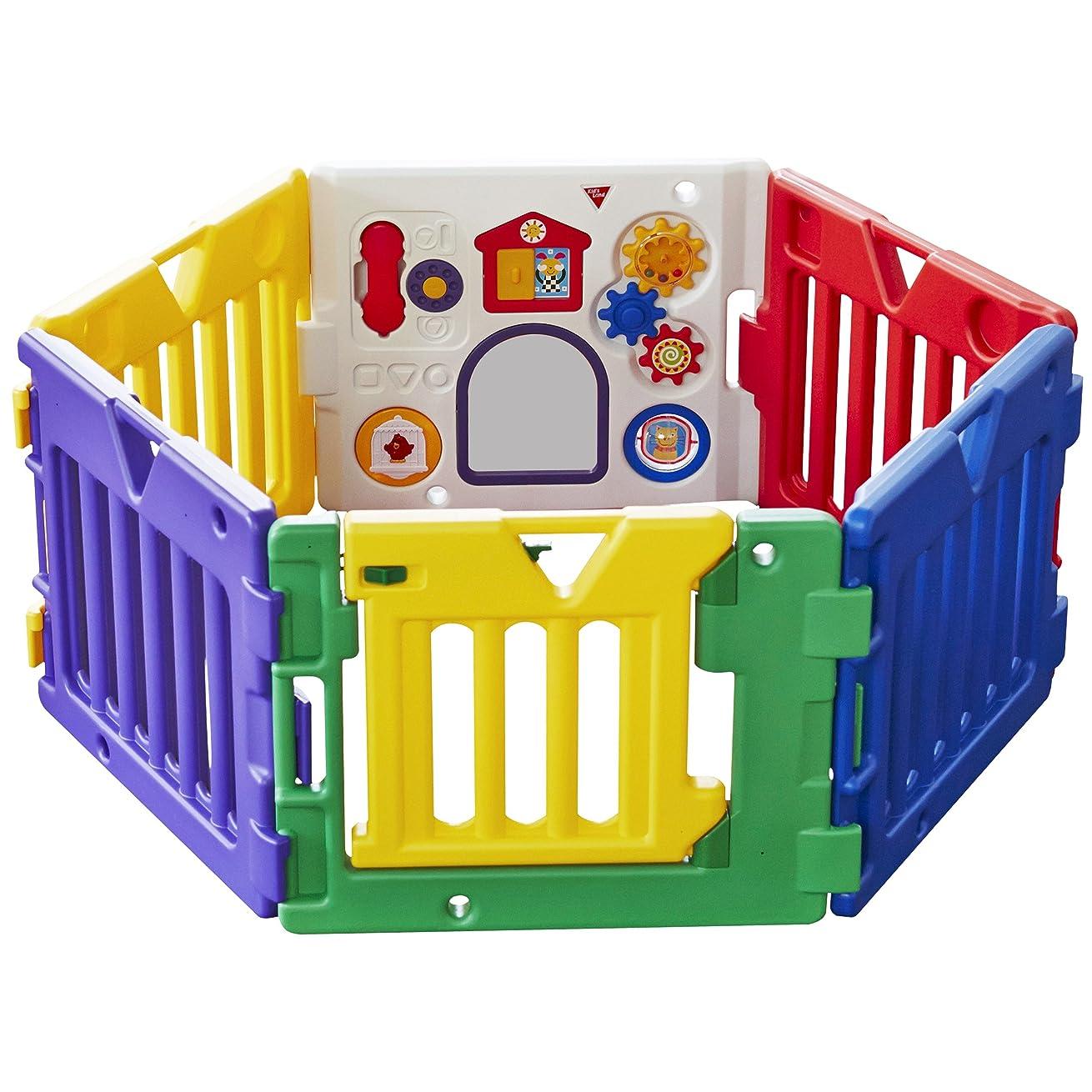 宴会フォアマン聴く日本育児 ベビーサークル ミュージカルキッズランド DX 6ヶ月~3歳半対象 おもちゃパネル付のベビーサークル