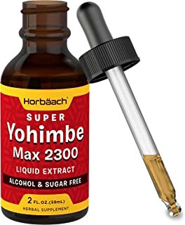 Horbaach Super Yohimbe Bark Extract | 2 Oz | Max 2300mg | Alcohol and Sugar Free | Vegetarian, Non-GMO, Gluten Free Liquid Supplement