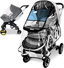 Stroller Rain Cover and Baby Stroller Mosquito Net(2-Piece Set),Universal Stroller Accessory,Waterproof, Windproof Protect...