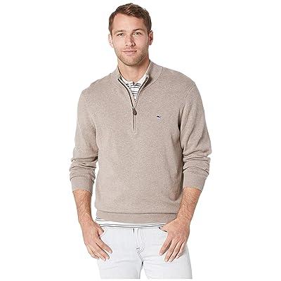 Vineyard Vines Palm Beach 1/4 Zip Sweater (Harvest Tan) Men