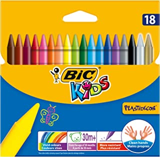 Bic Kids Plastidecor Coloración Crayons (Paquete de 18)