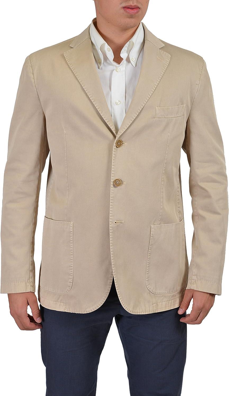Ballantyne Men's Beige Three Button Sport Overseas parallel import regular item Coat Blazer IT 44 US 5 Over item handling