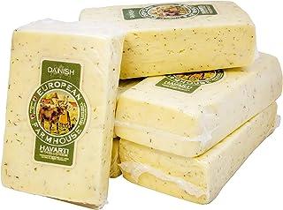 European Farmhouse Havarti Cheese with Dill, 3 Lb