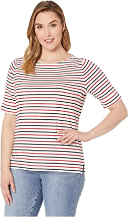 6ee5c4d5 Lauren ralph lauren plus size cotton boat neck t shirt | Shipped ...